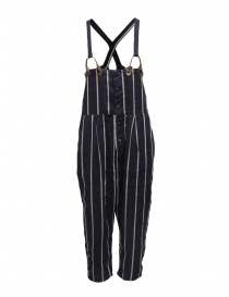 Kapital navy blue striped dungarees K1905OP191 NAVY order online