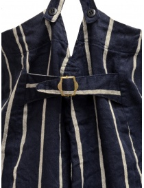 Kapital navy blue striped dungarees womens trousers buy online
