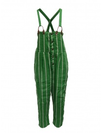 Kapital green striped dungarees K1905OP191 GREEN
