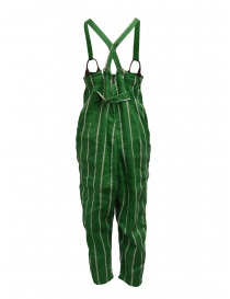 Kapital green striped dungarees
