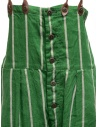 Kapital green striped dungarees K1905OP191 GREEN price