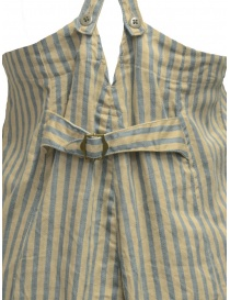 Salopette Kapital beige a righe azzurre pantaloni donna acquista online