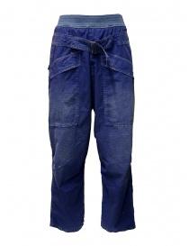 Pantaloni Kapital blu con fibbia online