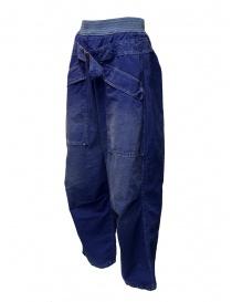 Pantaloni Kapital blu con fibbia