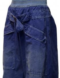 Pantaloni Kapital blu con fibbia pantaloni uomo prezzo