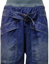 Pantaloni Kapital blu con fibbia pantaloni uomo acquista online