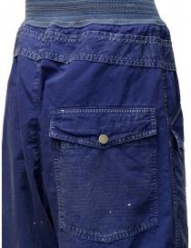Pantaloni Kapital blu con fibbia acquista online prezzo
