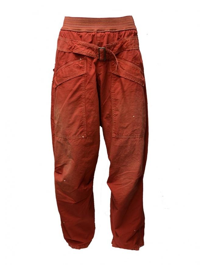 Pantaloni Kapital rossi con fibbia K1904LP130 RED pantaloni uomo online shopping