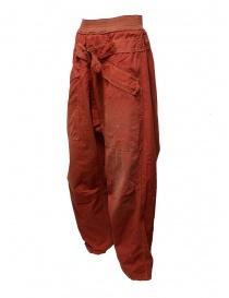 Pantaloni Kapital rossi con fibbia acquista online