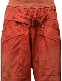 Pantaloni Kapital rossi con fibbia pantaloni uomo acquista online