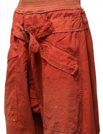Pantaloni Kapital rossi con fibbia pantaloni uomo prezzo