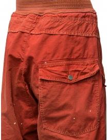 Pantaloni Kapital rossi con fibbia acquista online prezzo