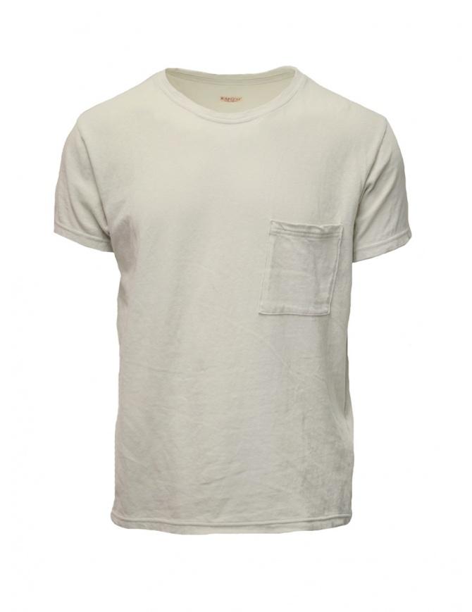 Kapital cream t-shirt with small pocket EK-442 IVORY mens t shirts online shopping