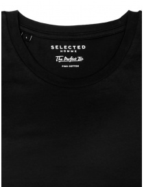 Selected Homme black simple t-shirt price