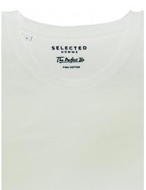 T-shirt Selected Homme bianco luminoso liscia prezzo
