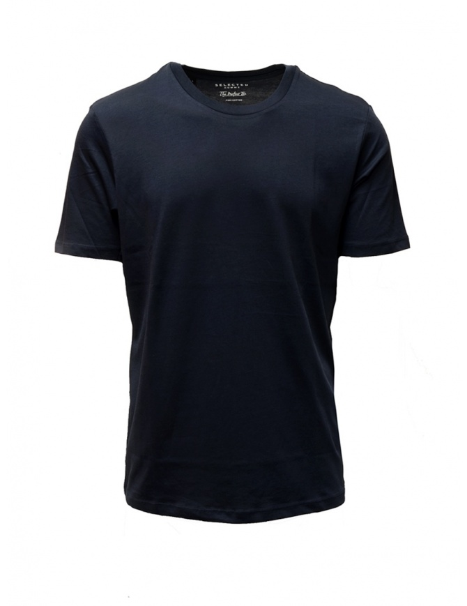 Selected Homme dark sapphire blue simple t-shirt 16057141 DARK SAPPHIRE mens t shirts online shopping