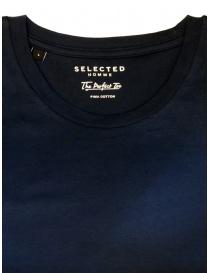 T-shirt Selected Homme blu scuro zaffiro liscia prezzo
