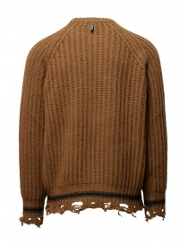 Golden Goose brown ocher sweater with torn edges price