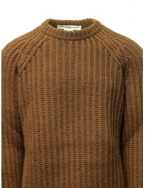 Golden Goose brown ocher sweater with torn edges mens knitwear buy online