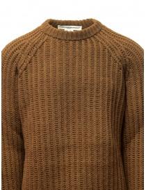 Maglione Golden Goose marrone ocra bordi strappati maglieria uomo acquista online