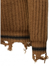 Golden Goose brown ocher sweater with torn edges mens knitwear price