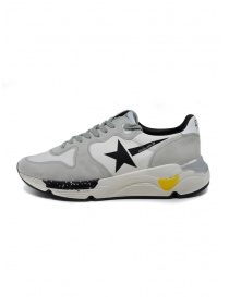 Golden Goose Running white and grey sneakers with black star