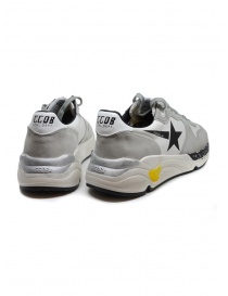 Golden Goose Running white and grey sneakers with black star price