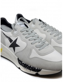 Golden Goose Running white and grey sneakers with black star mens shoes buy online