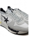 Golden Goose Running white and grey sneakers with black star G35MS963.A1 WHT LYCRA-BLK STAR buy online