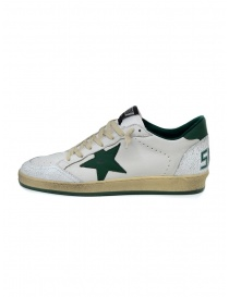 Golden Goose Ballstar white sneakers with green star