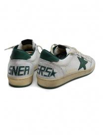 Golden Goose Ballstar white sneakers with green star price