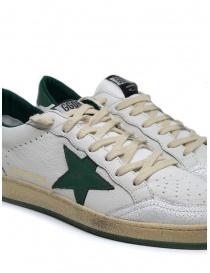 Sneakers Golden Goose BallStar bianche con stella verde calzature uomo acquista online