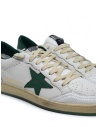 Golden Goose Ballstar white sneakers with green star G35MS592.A4 WHT-GREEN buy online