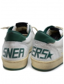 Golden Goose Ballstar white sneakers with green star mens shoes price