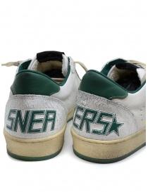 Sneakers Golden Goose BallStar bianche con stella verde calzature uomo prezzo