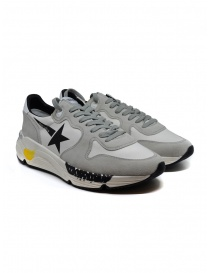 Golden Goose Running white and grey sneakers with black star online