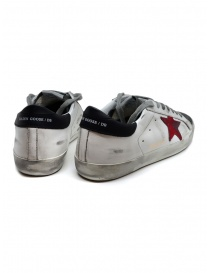 Golden Goose Superstar in white grey with red star price
