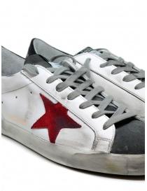 Golden Goose Superstar bianche grigie con stella rossa calzature uomo acquista online