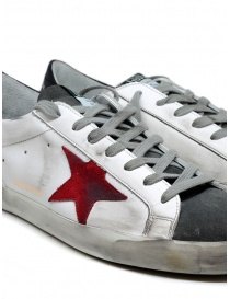 Golden Goose Superstar in white grey with red star mens shoes buy online