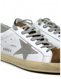 Golden Goose Superstar bianche marroni con stella grigia calzature uomo acquista online