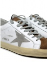 Golden Goose Superstar bianche marroni con stella grigia G35MS590.Q18 WHT MUD-ICE STAR acquista online