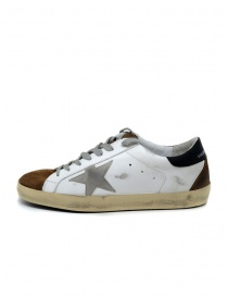 Golden Goose Superstar bianche marroni con stella grigia