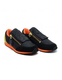 Kapital black and orange sneaker with smiley online