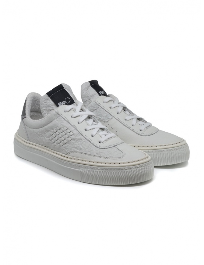 new style 2038a 97ebd BePositive Roxy white creased sneakers for woman