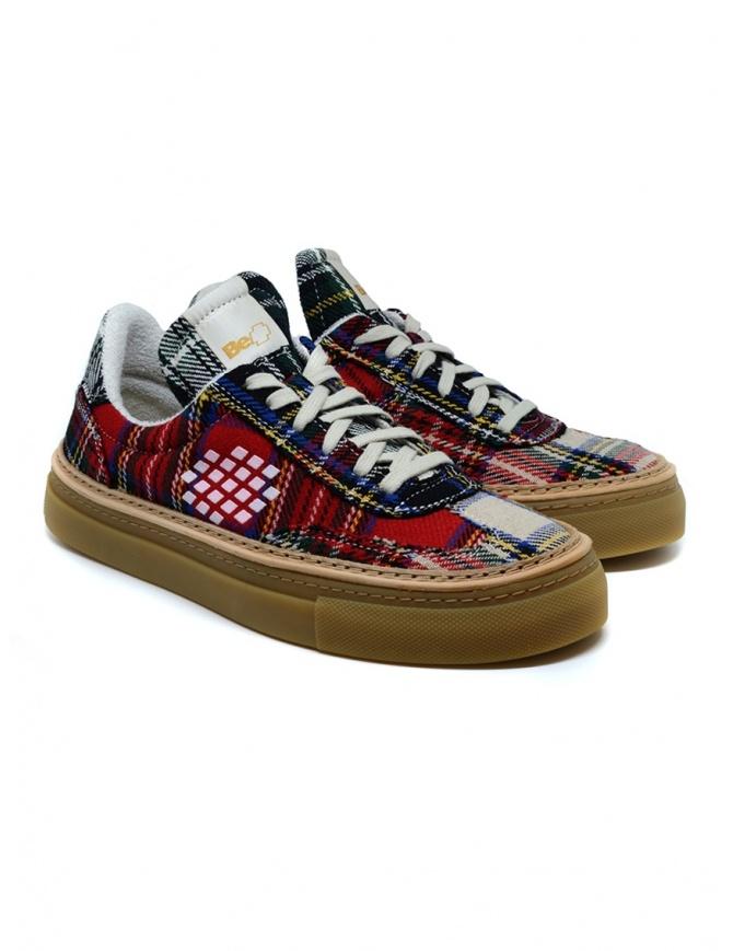 Sneaker BePositive Roxy Tartan Rosso da donna 9FWOARIA14/TAR/RED-ROXY calzature donna online shopping