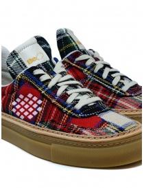 Sneaker BePositive Roxy Tartan Rosso da donna calzature donna acquista online