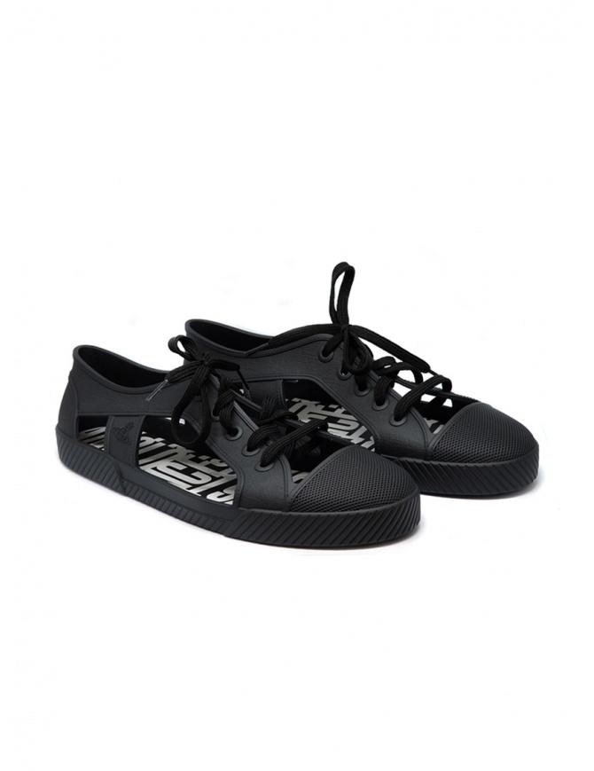 Melissa + Vivienne Westwood Anglomania sneaker nera da uomo 32354-01003 BLK MAN calzature uomo online shopping