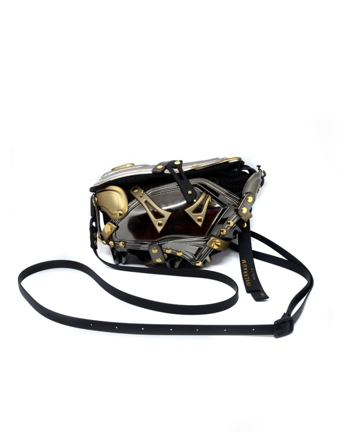 Innerraum smartphone bag in black, charcoal gray and gold I14 SMATRPHONE BAG ANTR/GOLD bags online shopping