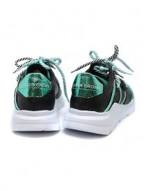 Sneakers Leather Crown Border Line Nere Verde Smeraldo prezzo