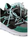 Leather Crown Border Line Sneakers Black Emerald Green WBRDL AERO DONNA 307 buy online